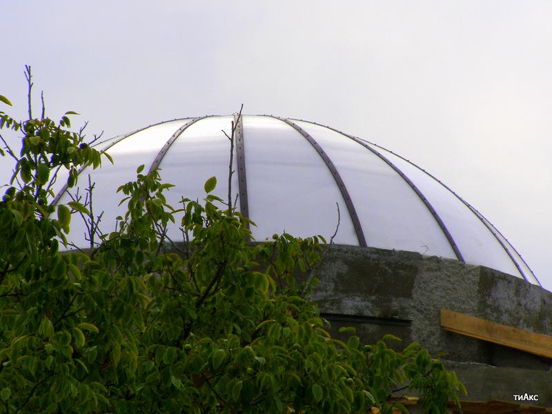 """Купольный навес """"крыша"""" из сотового поликарбоната по авторскому проекту."""